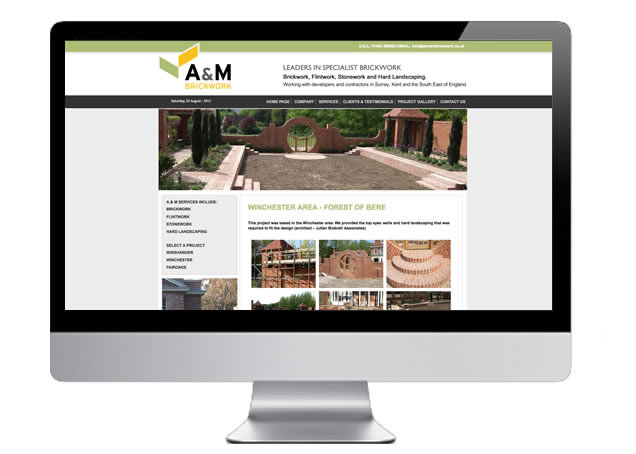Building Contractor Image Gallery and Website Design Guildford