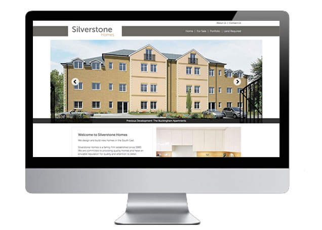 Property Web Design for Silverstone Homes