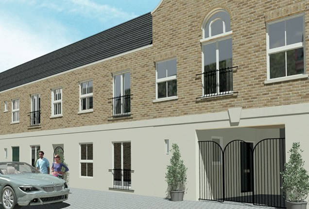 CGI of New Homes in London Mews